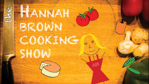 Title graphic for cooking show