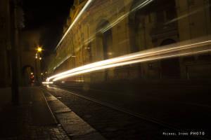 Tram and cars (Prague, Czech Republic, 2014)
